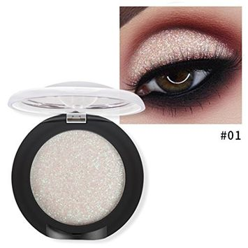 Fheaven 10 Colors Available Eye Shadow Diamond Glitter Shimmer Makeup Pearl Metallic Eyeshadow Palette Makeup