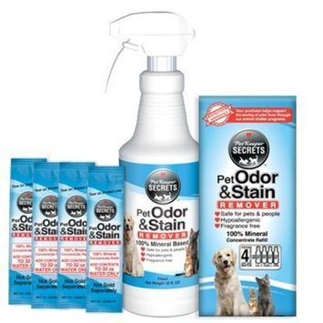 PetKeeper Secrets Odor Stain Remover 4Pack, 128oz
