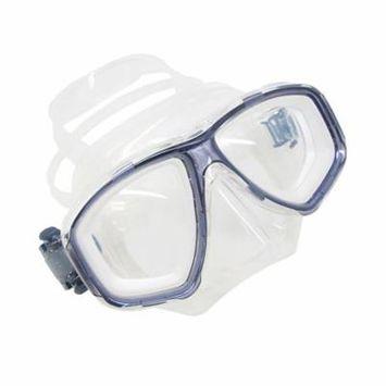Titanium Blue Dive Mask NEARSIGHTED Prescription Lenses (Different each eye)