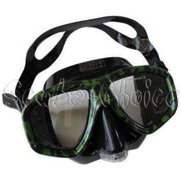 Camouflage Dive Purged Mask NEARSIGHTED Prescription RX (Different each eye)