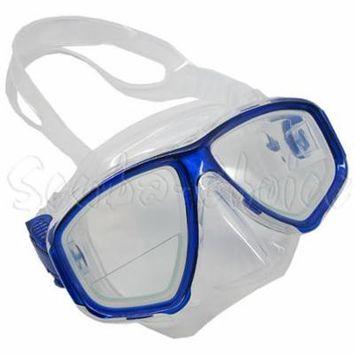 Blue Dive Mask FARSIGHTED Prescription 1/3 Optical Lenses (Different each eye)