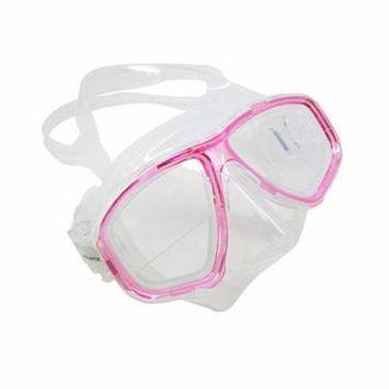 Pink Dive Mask FARSIGHTED Prescription 1/3 Optical Lenses (Different each eye)