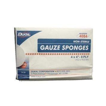 Dukal Woven Cotton Gauze Sponges, 200/Sleeve. 4