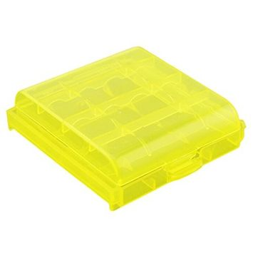 SODIAL(R) Pack of 9 PCS AA / AAA Battery Storage Hard Case Box-yellow