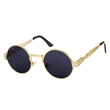 100% UV Protection,Fheaven Men Women Vintage Round Square Mirrored Sunglasses Eyewear Outdoor Sports Glasse
