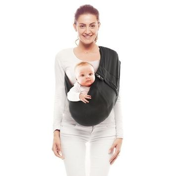 Wallaboo -Baby Sling Connection - One Size Fits All - Soothing for Baby - Easy Adjustable - Ergonomic - Lightweight - 100% Comfort Cotton - Suitable for Newborns, Infants & Toddlers - Color: Taupe