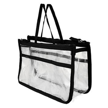 aliveGOT 5 in 1 Cosmetic Bag & Case Portable Carry on Travel Toiletry Bag Clear PVC Makeup Quart Luggage Pouch Handbag Organizer for Men and Women