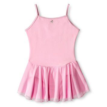 Danz N Motion by Danshuz Girls' Keyhole Back Activewear Leotard - Pink M(8-10)