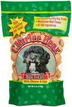 Charlee Bear Dog Treats with Cheese & Egg