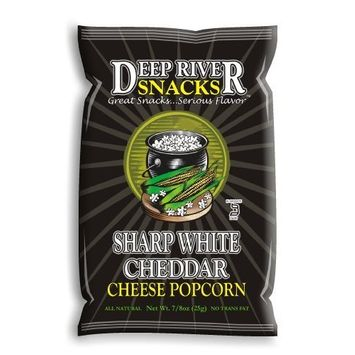 Deep River Snacks Sharp White Cheddar Cheese Popcorn