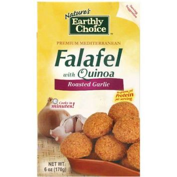 Natures Earthly Choice Nature's Earthly Choice Falafel with Quinoa Roasted Garlic, 6 oz, (Pack of 6)