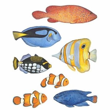 Instant Murals 7 Under The Sea Wall Transfer Stickers - Tropical Fish