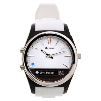 Martian Notifier Smart Watch - White/Black (MN200WBW)