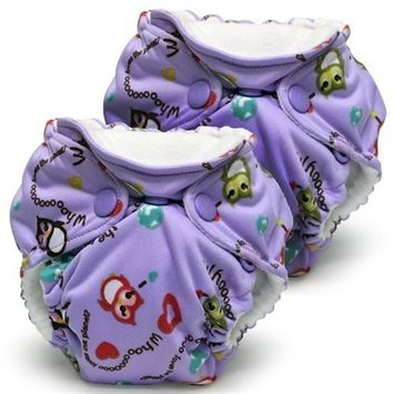 Lil Joey 2 Pack All-In-One Cloth Diaper, EcoOwl