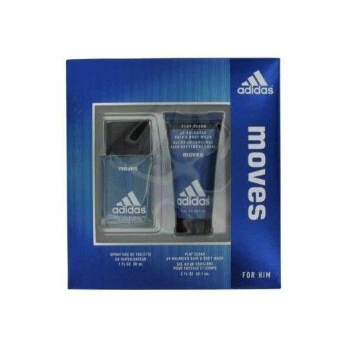 Adidas Moves by Coty Gift Set -- 1 oz Eau De Toilette Spray + 2 oz Hair & Body Wash for Men