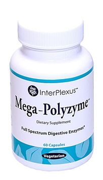 InterPlexus Mega-Polyzyme Full Spectrum Vegetarian Enzymes 60 Capsules