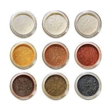 Amore Mio Cosmetics 9-Stack Eye Shadows Set, 02/B, 9-Count