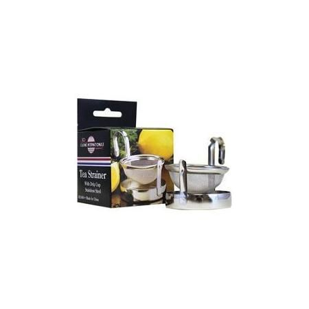 Frontier Natural Foods Frontier Natural Products 207420 Tea Strainer With Drip Pan 2 in.