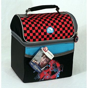 Igloo Insulated Lunch Bag, Two Compartments, (Checkered Sports Design)