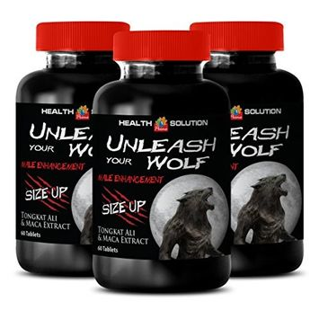 Panax ginseng capsules - UNLEASH YOUR WOLF - SIZE UP - libido and sexual function booster (3 Bottles)