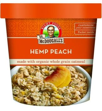 Dr. Mcdougall's Right Foods Dr. McDougall's Whole Grain Oatmeal Cup, Hemp Peach, 3 Oz