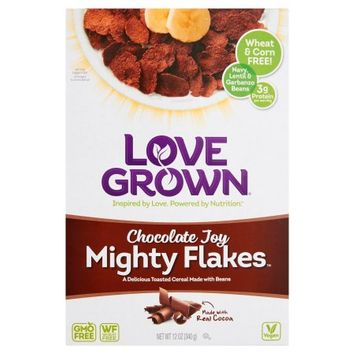 Love Grown Foods, Llc Love Grown, Cereal Mght Flakes Chocolate Joy, 12 Oz (Pack Of 6)