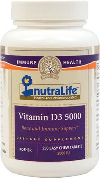 NutraLife Vitamin D3 5000 IU-250 Chewables