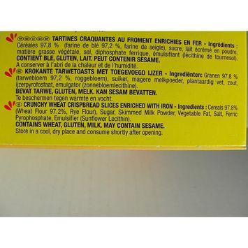 Lu Cracottes Crisp Wheat Flour Slices Crackers 8.8 oz, One Pack