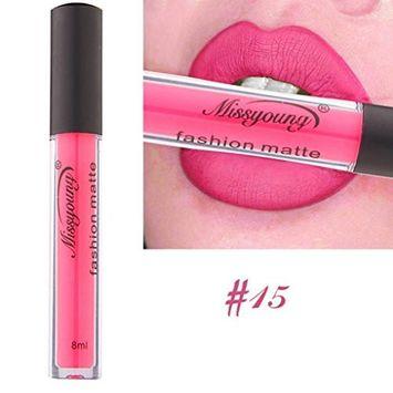 Hot Sales! DEESEE(TM)MISS YOUNG 18 Color New Waterproof Matte Lasting Liquid Velvet Lipstick Cosmetic Sexy Lip Makeup Gloss Kit