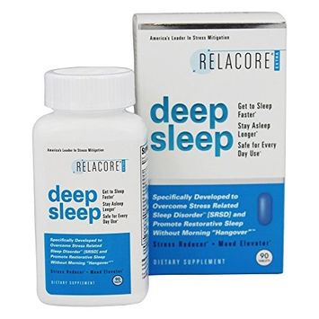 RELACORE Extra Deep Sleep- Special Sleep Formula Designed to Break the Sleep-Stress Cycle for Powerful Stress-Reducing, Calming, and Restful Sleep. Sleep Faster, Better, and Longer, (90 count)