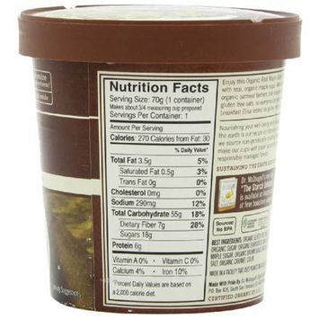 Dr. McDougall's Right Foods Organic Maple Oatmeal, 2.5 oz, (Pack of 6)