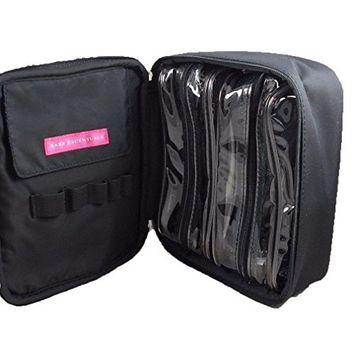bareMinerals Black Nylon Zip Around 3 Piece Travel Makeup Cosmetic Bag Set