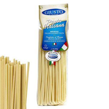 Giusto Sapore Italian Pasta - Bucatini 454g - Premium Organic Bronze Drawn Durum Wheat Semolina Gourmet Pasta Brand - Imported from Italy and Family Owned [Bucatini]
