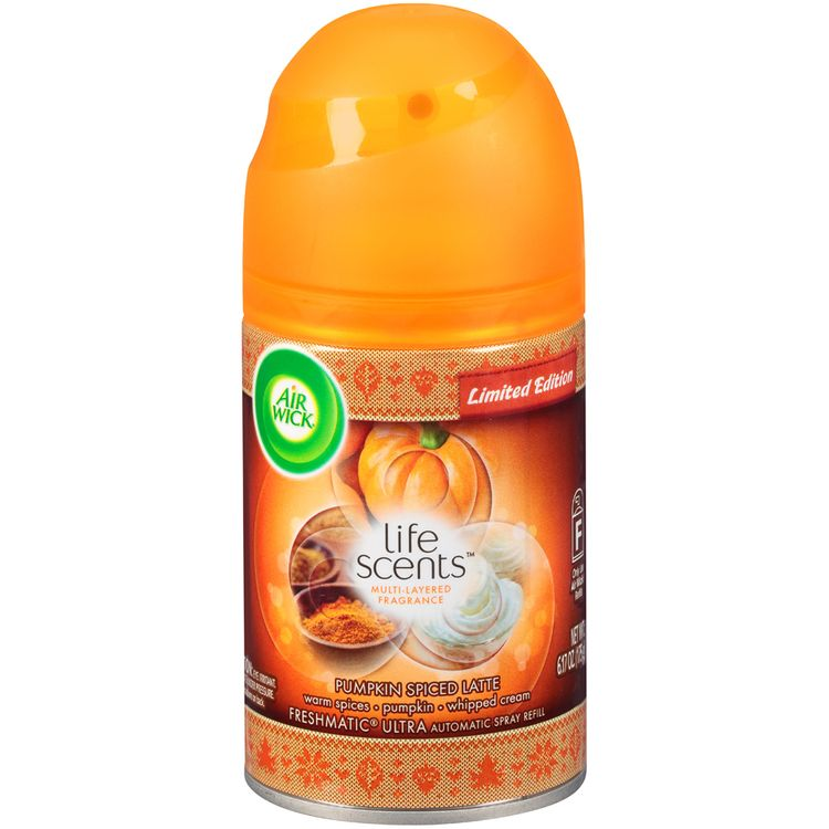 Air Wick® Freshmatic® Ultra Life Scents™ Limited Edition Pumpkin Spiced Latte Automatic Spray Refill