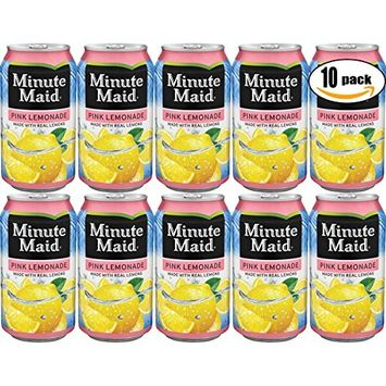 Minute Maid Pink-Lemonade, Made With Real Lemons, 12 Fl Oz Can (Pack of 18, Total of 216 Fl Oz)