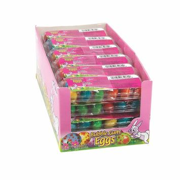 Fun Express - Bubble Gum Mini Egg Carton for Easter - Edibles - Gum - Gumballs & Individually Wrapped - Easter - 24 Pieces
