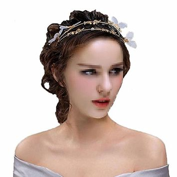 Simplicity Restoring Ancient Ways Bride Hair Hoop Headdress With Butterfly Shape Hair Accessory for Wedding or Photography