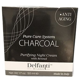 Delfanti Milano Charcoal Purifying Night Cream, 1.7 oz, Made in Italy