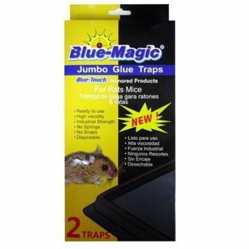 New 823175 Blue- Magic Jumbo Rat Glue Traps 2Pk Disp (24-Pack) Trap And Pesticide Cheap Wholesale Discount Bulk Cleaning Trap And Pesticide Sponge And Such