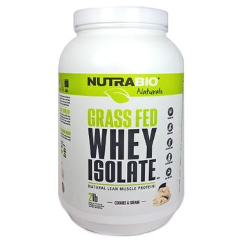 Whey Isolate Cookies and Cream by NutraBio -x0D2 Pounds