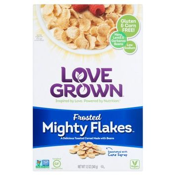 Love Grown Foods, Llc Love Grown, Cereal Mght Flakes Frosted, 12 Oz (Pack Of 6)