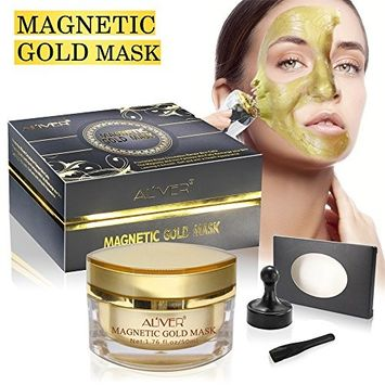 AL'IVER Magnetic Face Mask, Magnetight Age-Defier Mineral-Rich Magnet Mask for Anti Aging Anti Wrinkle Facial Treatment Pore Minimizer, 1.7 Fl Oz
