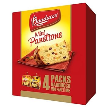 Bauducco Mini Panettone 4 Pack - (2) Panettone / (2) Chocottone, 14.1 oz