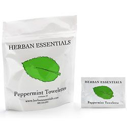 Herban Essentials Peppermint Towelettes 7 piece