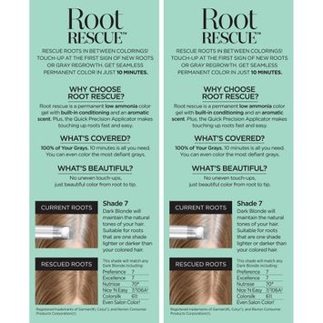 Root Rescue™ 10 Minute Root Coloring Kit Matches Any 7 Dark Blonde 2-1 Kit Boxes