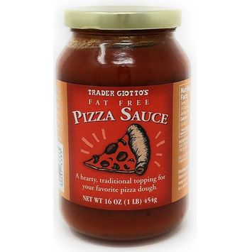 Trader Giotto's - FAT FREE PIZZA SAUCE 16 OZ - A Hearty, Traditional Topping For Your Favorite Pizza Dough