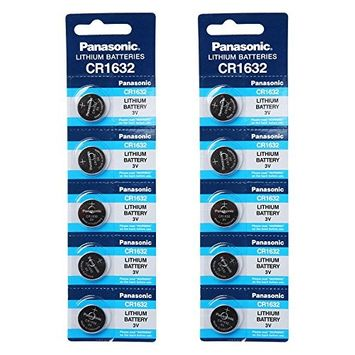 Panasonic CR1632 3V Lithium Battery 2PACK X (5PCS) = 10 Single Use Batteries