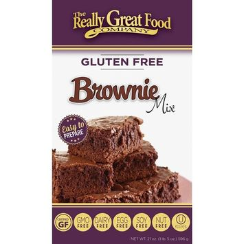 Really Great Food Company – Gluten Free Brownie Mix – 21 ounce box - No Nuts, Soy, Dairy, Eggs - Vegan, Kosher, Non-GMO and Plant Based [Chocolate]
