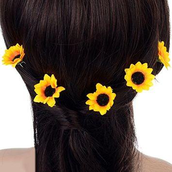 Polytree 5Pcs Boho Daisy Flower Hair Clip Wedding Bridal Hair Pins