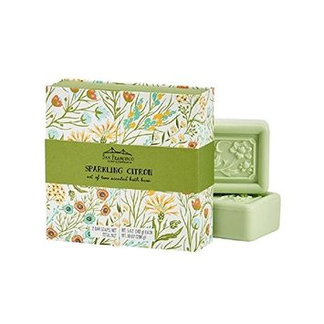 San Francisco Soap Company Exotic Floral Gift Boxed Set, Sparkling Citron [Sparkling Citron]